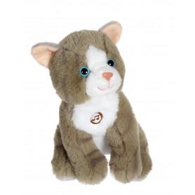 Chat Mimi cats sonore gris - 18 cm