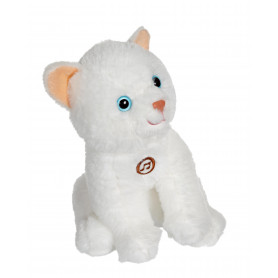 Chat Mimi cats sonore blanc - 18 cm