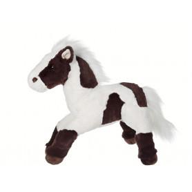 Cheval sonore marron et blanc - 40 cm