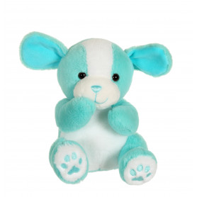 Chien cute doggy bleu menthe - 18 cm