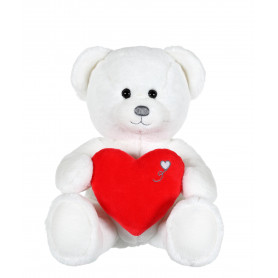 Ours Coeur - 22 cm