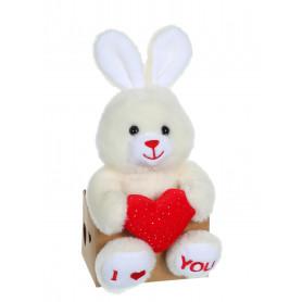 Les p'tits lovers lapin rouge - 14 cm