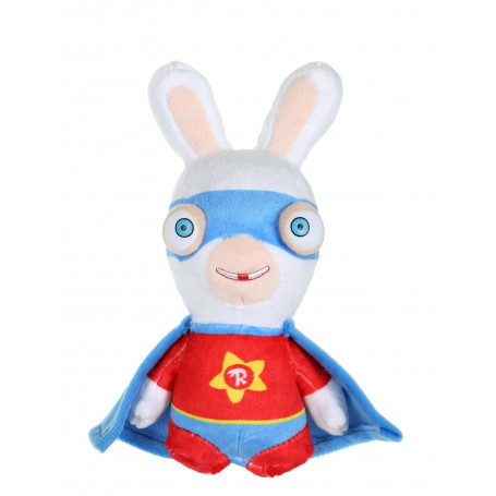 Lapins Crétins - Super Lapin bleu et rouge sonore - 18 cm