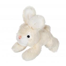 Petit lapin allongé crème - 20 cm