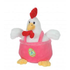 Les cocottes rigolotes sonores - poule rose - 15 cm