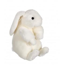 Lapinou assis blanc - 22 cm