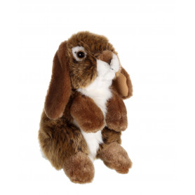 Lapin bélier marron - 18 cm