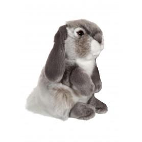 Lapin bélier gris - 18 cm