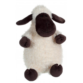 Mouton Funny Sheep Blanc Tête grise - 30 cm