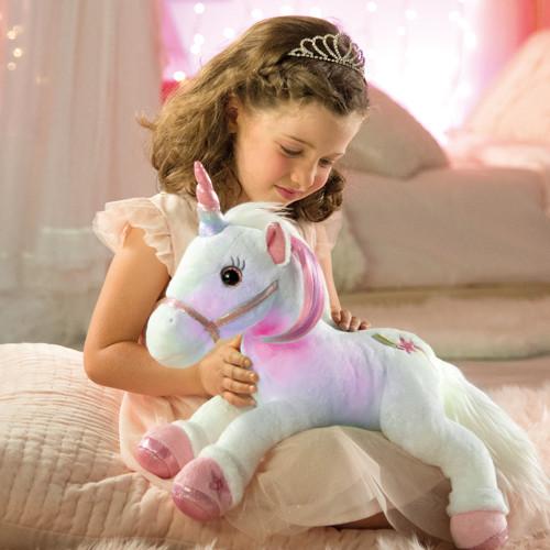 Lica bella, la licorne en peluche animée