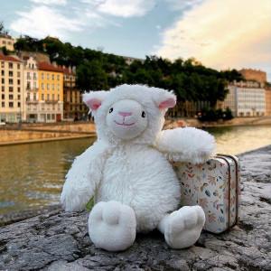 Bon allez, c'est la dernière ligne droite ! . On profite encore un peu et hop hop on referme la valise. . Notre agneau mignon Econimals revient d'un séjour chez @pino_saxo et il a adoré ! On le soupçonne d'ailleurs de vouloir y rester encore un peu ;) . Bonnes fin de vacances à tous ! Et plein de courage pour la rentrée ! . . . . #gipsytoys #peluchesfrance #gipsyfamily #peluchedouce #pelucheagneau #pelucherecyclée #econimals #doudouagneau